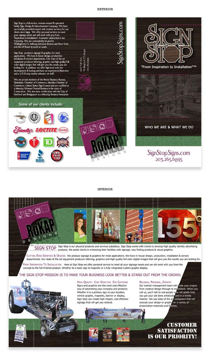 Poster design cost - Tri Fold Brochure Design For Rokap Inc Sign Stop