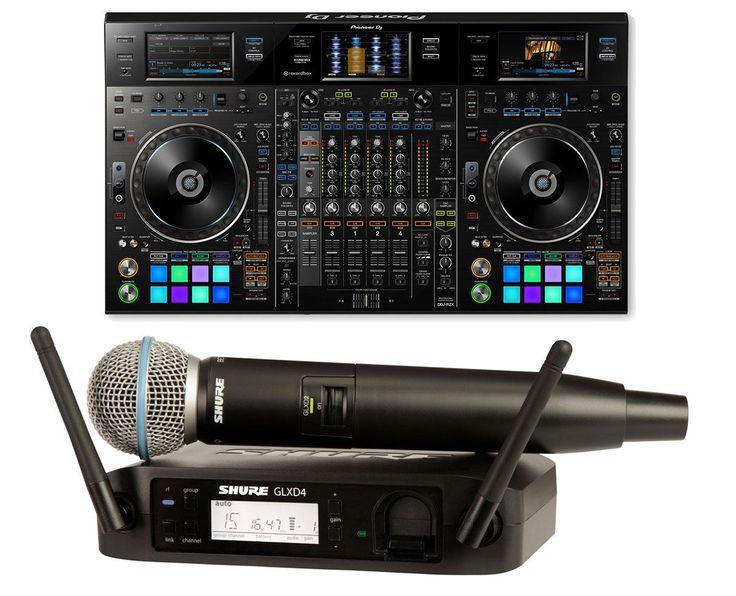 Pioneer DDJ-RZX DDJRZX DJ Controller  Shure Handheld Wireless Mic
