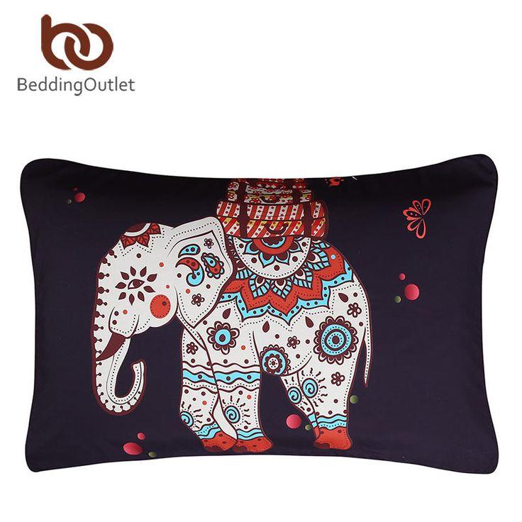 BeddingOutlet Moroccan Pillow Case Crystal Arrays Blue Bedclothes Mandala Printed Pillowcase 1Pc 50x75cm/50x90cm Best