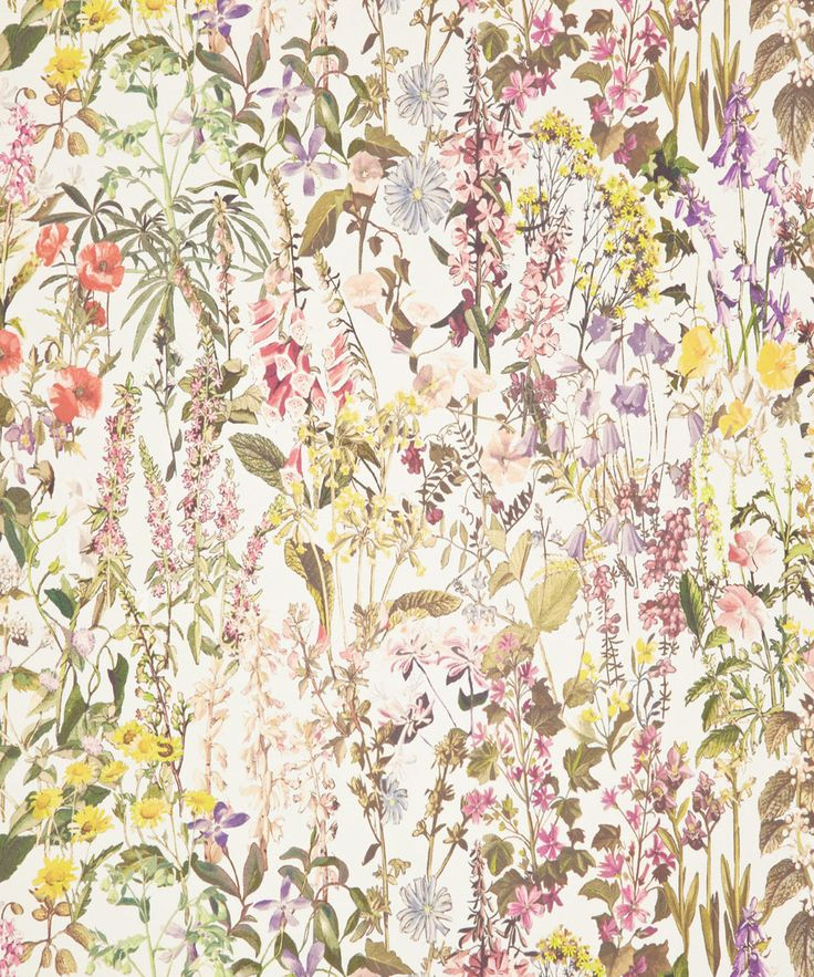Liberty Art Fabrics Charlotte Wallpaper in Catherine Cream | Home | Liberty.co.uk