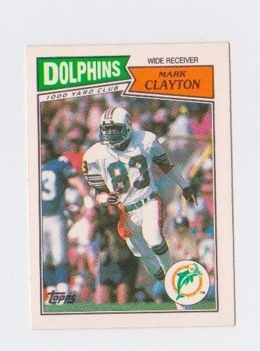 Mark Clayton 1987 topps MIAMI DOLPHINS NFL #53 UK AMERICAN DIFFERENT CARDS