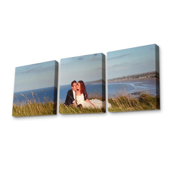 Show your images in creative ways. Our personalised triptych canvas splits one image into three parts, allowing for perfect design. Use personal photos or texts, or borrow designs to decorate your walls however you'd like. From £59.00