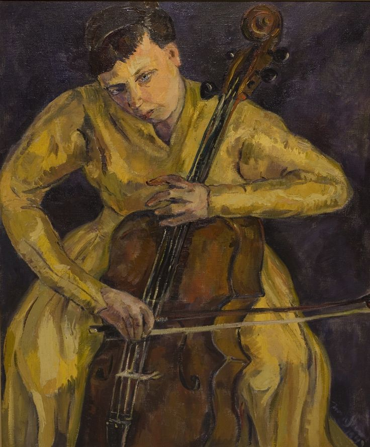 The Cellist, Irma Stern. South African (1894 - 1966)