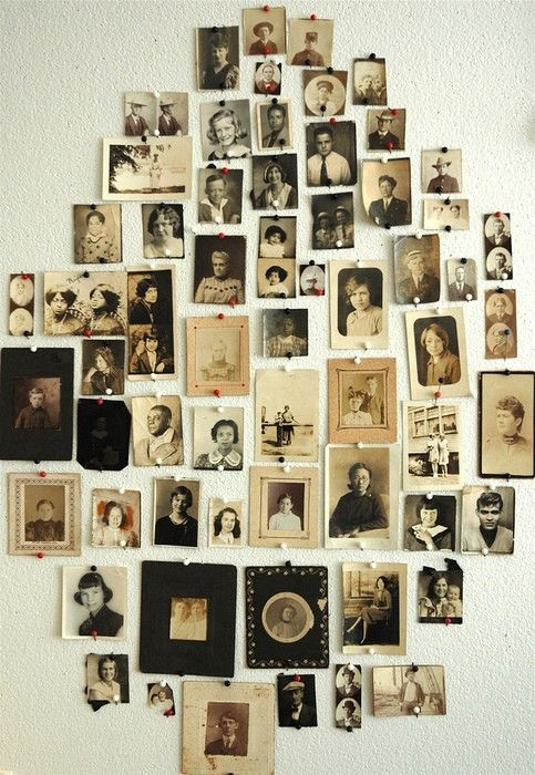 vintage family photos- I'm contemplating making a family tree wall with the old photos I have
