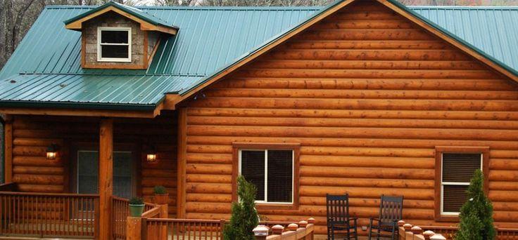 25 best log siding ideas on pinterest for Log house siding options
