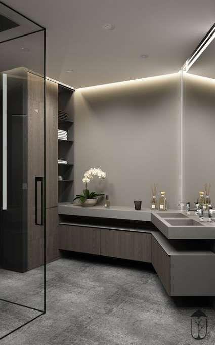 27 Ideas Modern Lighting Bathroom Floors Bathroom Lighting With Images Modern Bathroom Design Bathroom Design