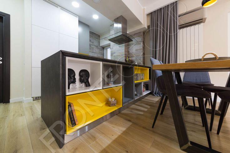Mineral Kitchen #furniture #craftfurniture by @Fronte Design #inspiration #kitchendesign #yellow&white #interiordesign #colors
