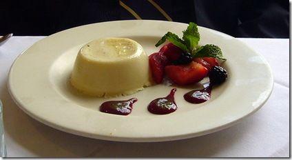 mousse choco blanco + fresas