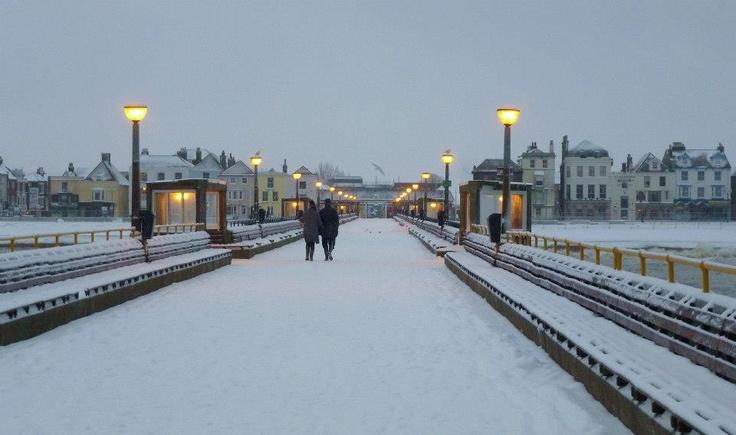 Deal pier in the snow (Jan 2013)