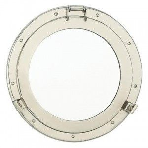 Add A Nautical Touch To Any Room With Porthole Mirror Features Working Clamps That Unscrew Allowing The Frame Be Mounted Wall