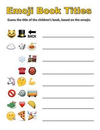 Emoji Book Titles | From awesome youth services librarian Peter Blenski, shared on his new idea-filled blog legolibrarian.com