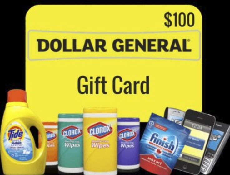 Get a 100 dollar general gift card free entry gift