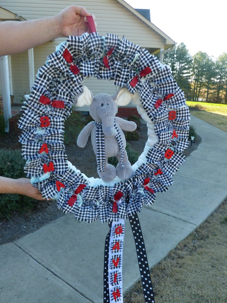 Alabama Diaper Wreath Baby Shower Ideas And Gifts