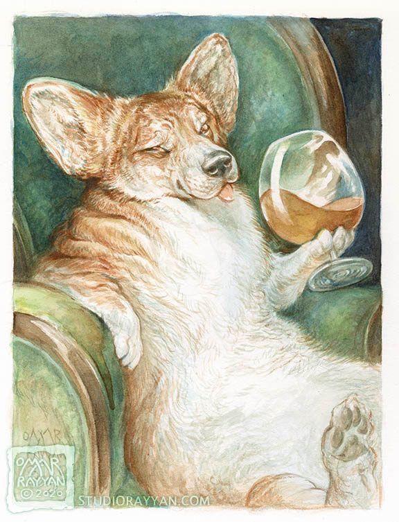 Cognac Corgi Omar Rayyan Everyday Original 2 20 In 2020 Omar Rayyan Art Painting