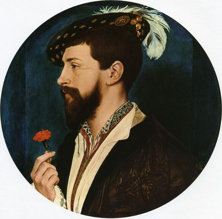 """artist-holbein: """" Portrait of Simon George of Quocote via Hans Holbein the Younger Size: 31x31 cm Medium: oil, panel"""""""