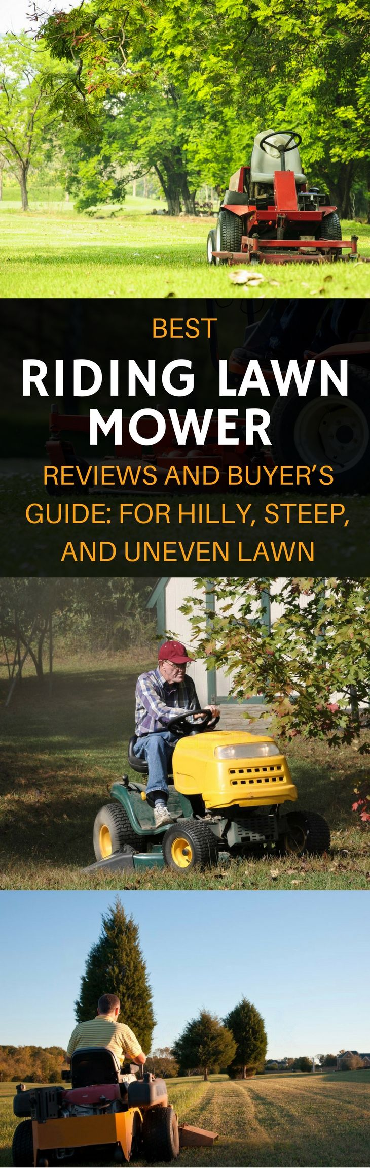 Best Riding Lawn Mower For the Money 2017: For Hilly, Steep and Uneven Lawn! https://gardenambition.com/best-riding-lawn-mower/