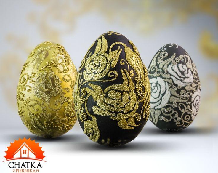 Komplet trzech pisanek z motywem kwiatowym. Ozdoby wielkanocne robione ręcznie - Twój pomysł na prezent na Wielkanoc.