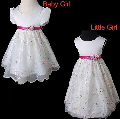 Kleidung Für Mädchen, Ivory Maedchen Perlen Pailletten Bestickte Kleid Blumenkleid Hochzeit, Es Ist Billig Und Gute Qualität, Sehr Einfach