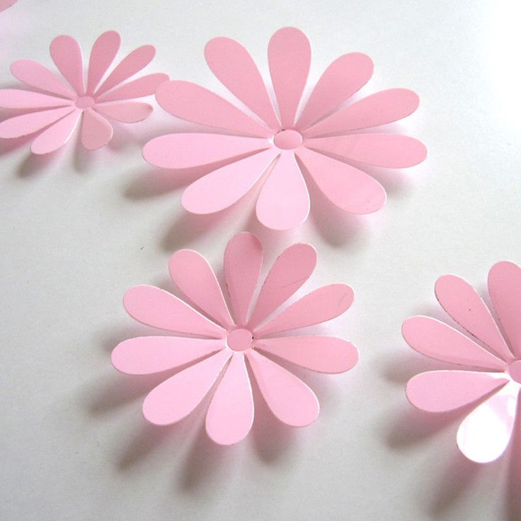 High Quality Durable Vinyl Industrial Wall Sticker Decal 3D Flower Pink New #Walls #Transitional