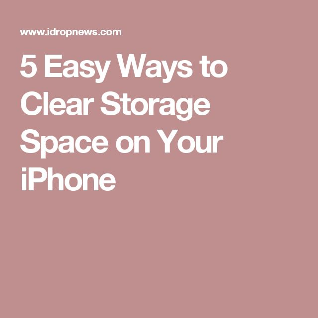 5 Easy Ways to Clear Storage Space on Your iPhone