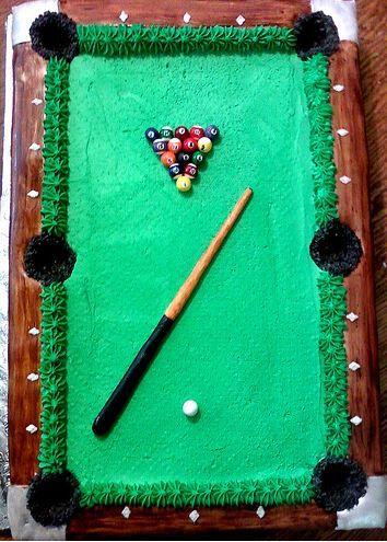 25 Best Ideas About Pool Table Cake On Pinterest