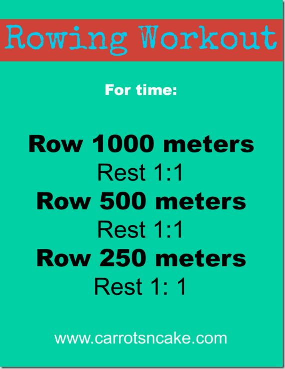 """Rest 1:1"""" means you'll rest for as long as it takes you to row, so, for example, it took me 4:00 to row 1000 meters, so I rested for 4:00 be..."""