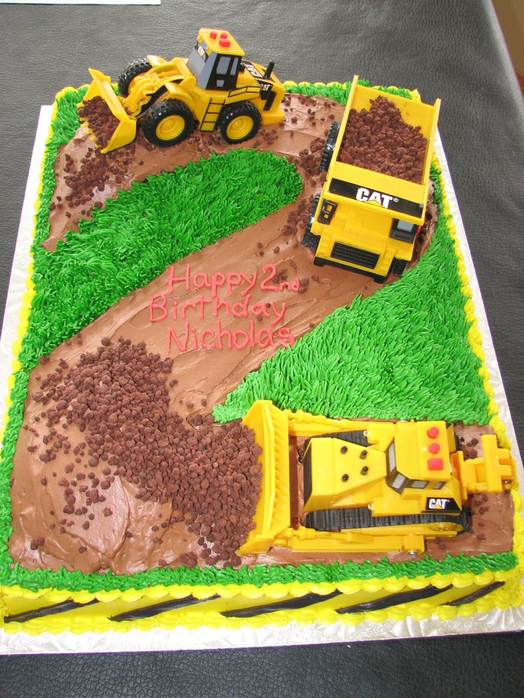 Another digger cake idea for my grandson's first birthday party!!!