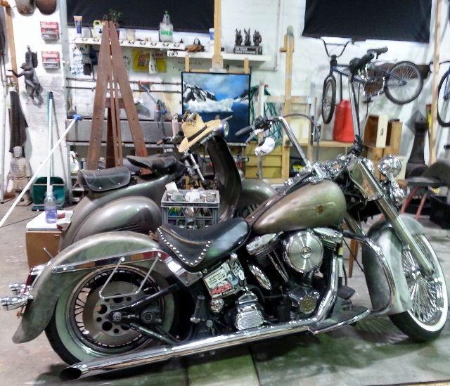 Harley Davidson, Stormie Mills studio, pic by Gail Robinson