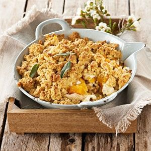 Chicken, butternut and feta crumble