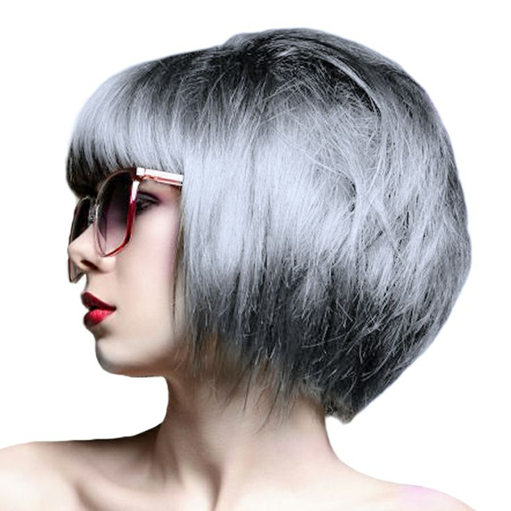 Crazy Colour Semi-Permanent Hair Dye 100ml (Silver)
