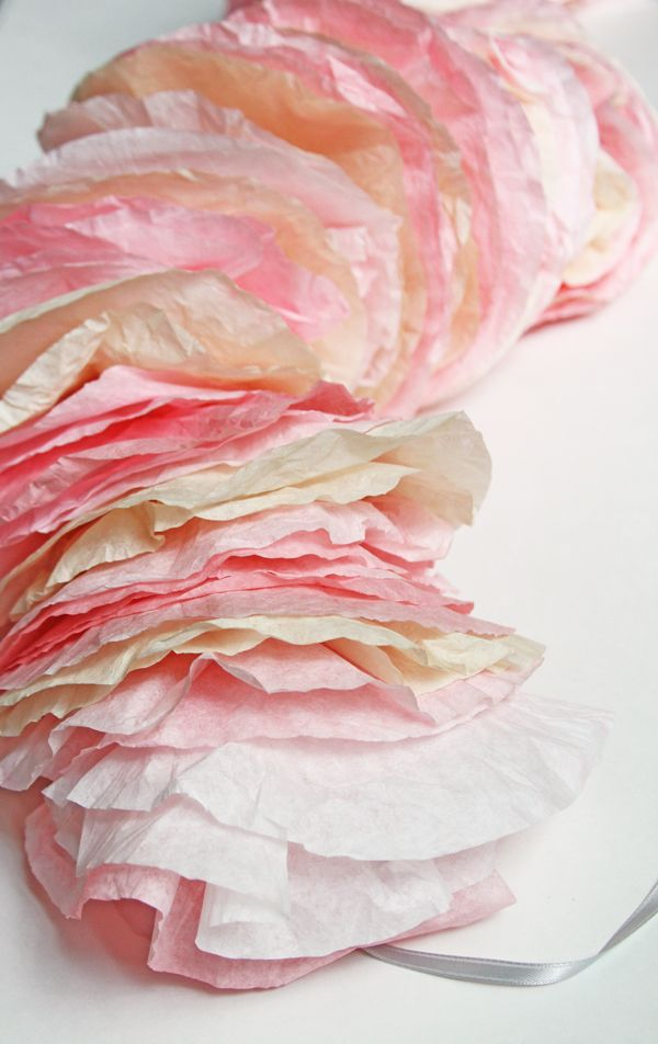 Lilyshop | How to Make Coffee Filter Garland