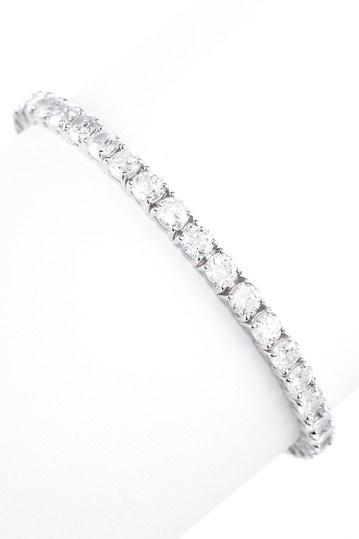 Round CZ Tennis Bracelet.