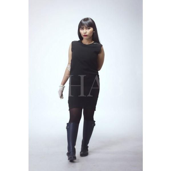 Black Shift Dress | FHAB via Polyvore