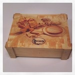 wooden box for food gift