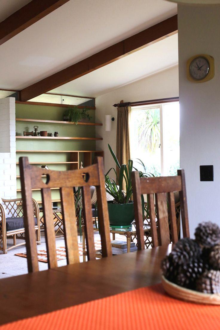 #diningroom #pinecones #orange #vintagechair  #styling by #placesandgraces