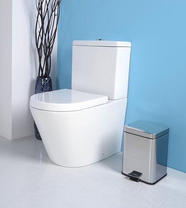 PACO RIMLESS WC kombi mísa s nádržkou včetně Soft Close sedátka, sp./zadní odpad, SAPHO E-shop