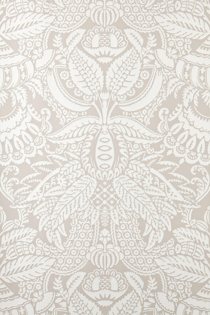 Wallpaper love.  Love this pattern love the tone