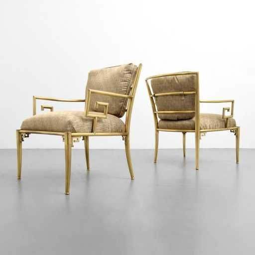 Lot: Greek Key Lounge Chairs, Attributed to Mastercraft, Lot Number: 0082, Starting Bid: $1,000, Auctioneer: Palm Beach Modern Auctions , Auction: Modern Art, Design & Luxury, Date: November 25th, 2017 EST