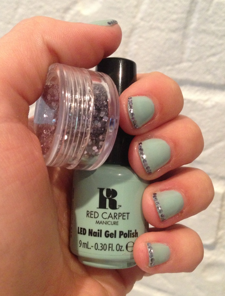 Red Carpet Manicure Parisian Chic And Platinum And Pearls
