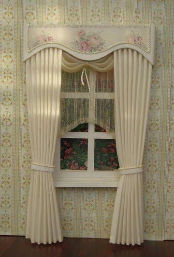 Miniature Dollhouse Curtains ( On Order)