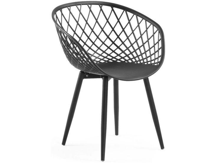 Krzesło z podłokietnikami Zayna czarne (1)  223 zł