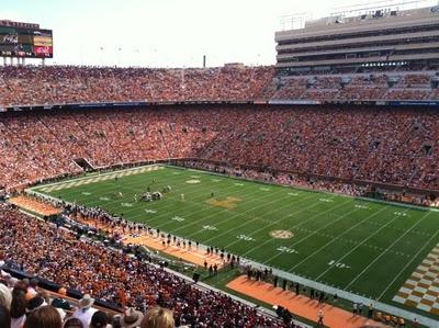 University of Tennessee Football in Neyland Stadium.....go vols!