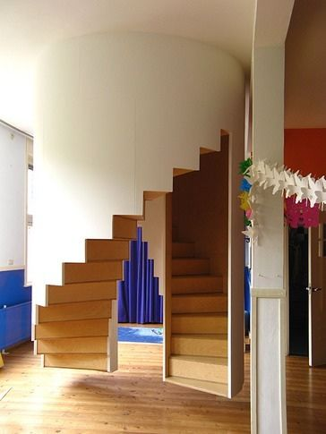 Wow and upstairs staircase and a downstairs staircase, but which is which.  And what happens if you go up the down staircase?