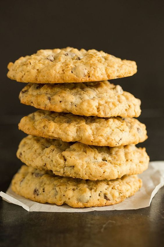 Oatmeal Chocolate Chip Cookies - Simple chewy cookies loaded with the perfect amount of oatmeal and chocolate chips. via @browneyedbaker