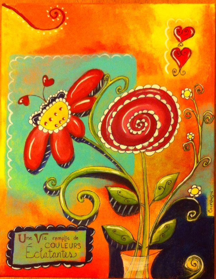 Une vie remplie de couleurs éclatantes Acrylique 12x10