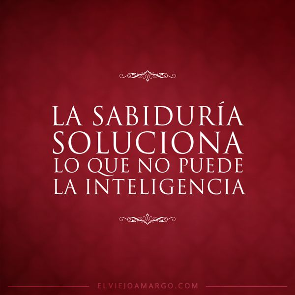 SABIDURIA INTELIGENCIA