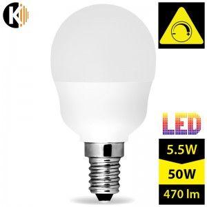 Żarówka LED E14 G45, 5.5W, ściemnialna, biała ciepła