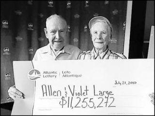 $ 11 200 000! Все деньги, выигранные в лотерею, пошли на благотворительность! 7 февраля 2012 года Касси Карингтон и Мэтт Тофем стали обладателями джек-пота в размере £ 45, 160 млн. | http://omkling.com/pobeda-v-loteree/