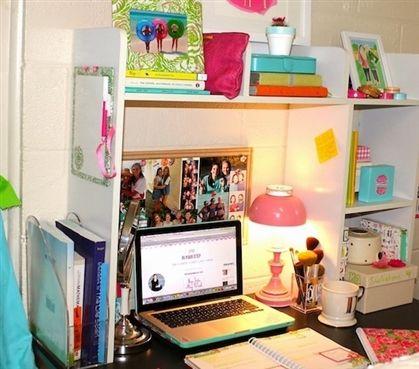 Classic Dorm Desk Bookshelf