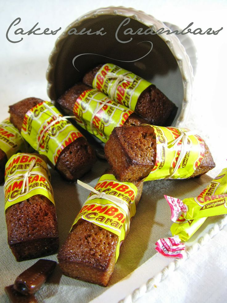Cakes aux Carambars  Pour une Vingtaine de Cakes individuels  20 Carambars® 150 g de beurre 1/2 sel 150 g de sucre 60 g de farine 80 g de poudre d'amandes 120 g de blancs d'oeufs (+/- 4 blancs)